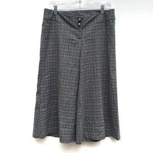 Vintage Y2K Plaid Wide Leg Gaucho Culottes Pants